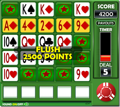 Five Card Slingo